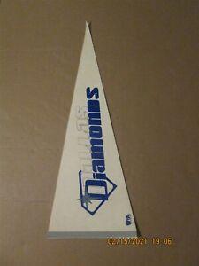 WBL Dallas Diamonds Vintage Defunct 1979-80 Team Logo Basketball Pennant