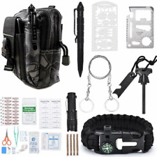 65 in 1 Tactical Military Survival Gear Kit Outdoor Camp Emergency First Aid Kit