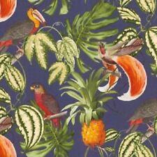 Erismann - Paradisio Tropical Parrot Pineapple Wallpaper - Blue / Multi 6302-08