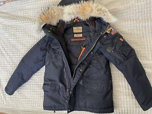 PARAJUMPERS Kinder Jungen Winter Daunen Jacke YOUNG SMALL 152 - 158 Echtfell