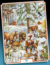 Herrlicher Vecchio Calendario Avvento > Animali in Foresta Lauschen Wichtelmusik