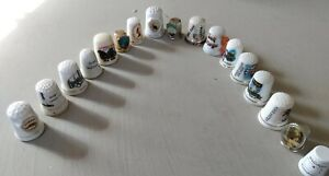 Collection of 17 Thimbles