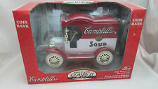 Campbell's Soup Diecast 1912 Ford Model T Deliver Car Coin Bank