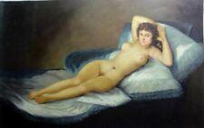 portrait odallisque femme nue peinture huile sur toile / nude painting on canvas