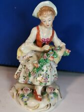 Sitzendorf German Porcelain  Figurine Woman