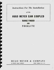 Hugo Meyer Cam Coupled Rangefinder & Focalite for Press Cameras (c1950) Manual