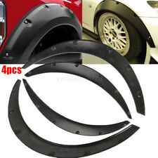 4Pcs Universal Car Wide PU Black Flexible Fender Flares Body Eyebrow Extension