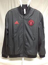 ADIDAS NWT Manchester United MUFC Anthem Jacket, Small Black DP2327 FREE Ship.