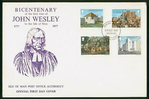 Mayfairstamps Isle of Man FDC 1977 John Wesley Visit Combo First Day Cover wwp_6