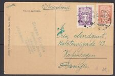 Lithuania PPC to Denmark 1927