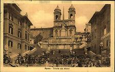 Rom Roma Italien Italia AK 1913 Santa Trinità dei Monti Kirche Kathedrale Dom