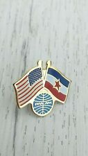 PanAm USA Yugoslavia Pin Badge