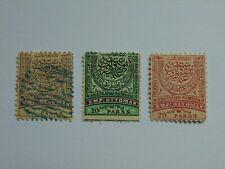 3 Freimarken Ostrumelien, Mi 11 B (.) 1884 , 7 A (*) 1881, III B (*) 1884