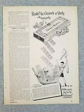 1949 Magazine Advertisement Page Nabisco Sugar Wafers Vanilla Cookies Food Ad