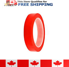 20mm x 25m Double Sided Red Adhesive Tape with a transparent polyester film