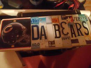 Chicago BEARS DA BEARS Aluminum License Plate Tag - home made