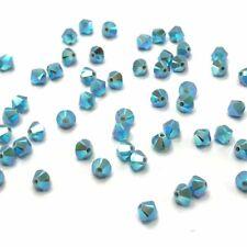 144 Swarovski 5328 Crystal XILION Bicone Bead Jewelry Making 4mm TURQUOISE AB 2x
