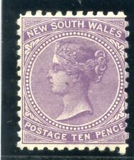 New South Wales 1907 KEVII 10d violet (Perf 11) MLH. SG 361.