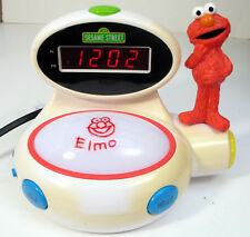 ELMO SESAME STREET 123 BILINGUAL KIDS LED ALARM CLOCK