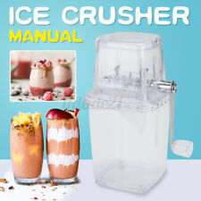 Portable Manual Ice Crusher Shaved Ice Machine Snow Ice Cone Hand Maker Summer