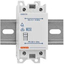 Klingeltrafo für Reiheneinbau 8V  1A NTF-S1 mit Schalter  Gewiss