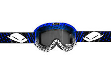 OCCHIALE CROSS UFO PLAST BLU E BIANCO ATV BICI MTB SOFTAIR SCI SNOWBOARD CROSS