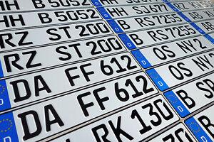 ORIGINAL German License Plate Audi BMW Mercedes Benz Porsche VW Fiat Saab Volvo-