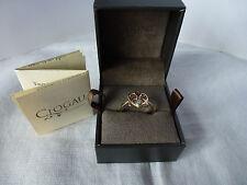 Clogau Welsh Gold, 9ct Rose & Yellow Gold Dwynwen Opal Ring, size N 1/2 RRP £310