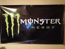 """OFFICIAL MONSTER ENERGY BANNER 36"""" X 60"""" HEAVY VINYL MANCAVE BRASS GROMMETS!!"""