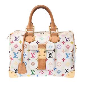 LOUIS VUITTON multicolor Speedy 30 white M92643 Hand Bag 802500036264000