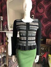 Black & Grey Knit Cardigan EVA & CLAUDI Small / Medium
