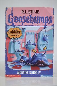 R.L. Stine Goosebumps #62 Monster Blood IV 4 1997 No Cards or Bookmark