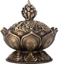 Metal Lotus incienso sostenedor de cono