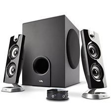 2.1 Speaker Sound System with Control Pod Great for Music Movies Multimedia Pcs