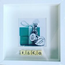 WHITE FRAME T & CO PHOTO SCRABBLE TILE PICTURE SIMPLY STUNNING