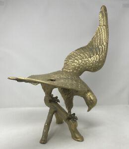 Antique Large Brass Eagle Hawk Bird Of Prey c1920s Mid Century