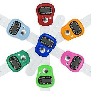 5 Pack Number Clicker Tasbeeh Tasbih Mini Finger Ring Digital Hand Tally Counter