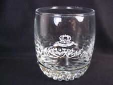 New listing Round Crown Royal cocktail glass dimpled base crown & cushion 8 oz