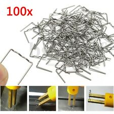 100x 0.8mm Staples Hot Stapler Bumper Fender Spoiler Weld Gun Plastic Repair Kit