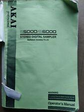 Akai S5000/S6000 sampler Operator's Manual