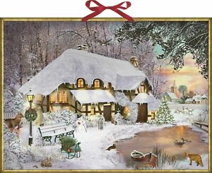 Winter Cottage in the Woods Huge Advent Calendar 52 x 38 cm Coppenrath