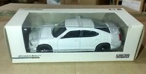 GREENLIGHT 1/64 *VHTF* ALL WHITE BLANK UNMARKED DODGE CHARGER POLICE CAR NEW