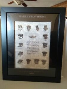 Harley Davidson 100th Anniversary Framed Engine Pin Set  97966-03V Limited Ed.