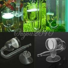 NEW Fish Nano Glass CO2 Diffuser with Suction Cup Aquarium Skimmer Plant Tank US