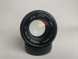 Auto Sears MC/Rikenon 50mm f/1.4 Fast prime lens PK mount or for mirrorless