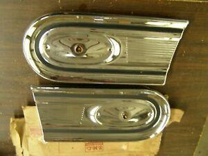 NOS OEM Ford 1958 Fairlane Tail Light Lamp Inner Bezels Trim Pair