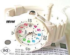 Latest Casio Womens Watch Analog White Rubber Band Sports Date 100M LRW-200H-7B