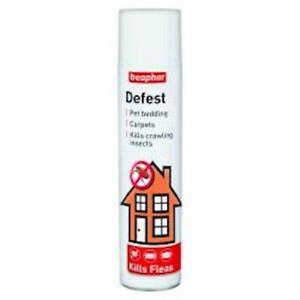 Beaphar Defest 400ml -Household Flea Spray pet bedding carpets kills insects @