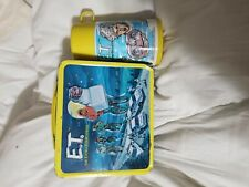 Vtg E.T. The Extra Terrestrial Metal Lunchbox And Thermos 1982 Great Condition