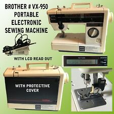 BROTHER ELECTRONIC PORTABLE SEWING MACHINE # VX-950 WITH LCD READ OUT & TOOL KIT